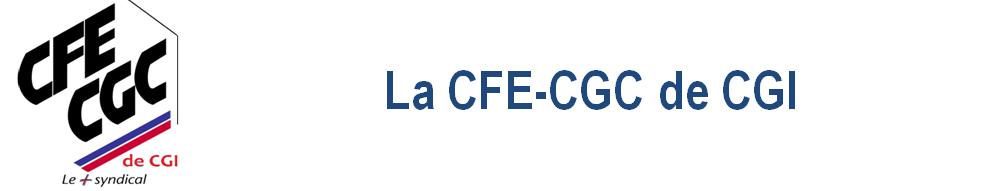 Le site de votre section syndicale CFE CGC de CGI